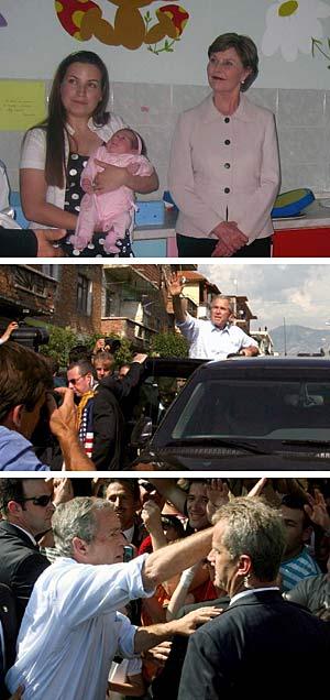 Albanien feiert Bush