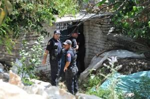 Polizeiaktion in Lazarat im  Juni 2014