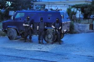 Spezialeinheiten der Polizei 2014 im Einsatz in Lazarat