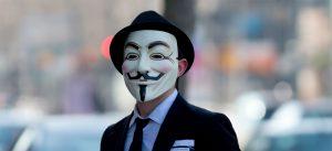 Anonymous-Aktivist (Symbolbild)