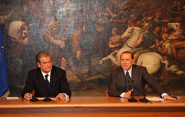 Sali Berisha und Silvio Berlusconi – 12. Februar 2010 in Rom
