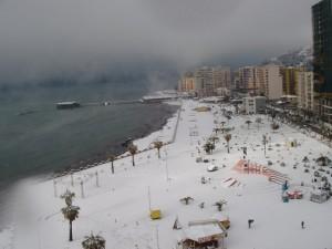 Schnee in Durrës