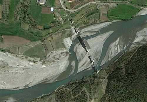 Brücke von Gjergjovina: Google-Screenshot