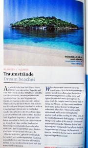»Traumsträne« - Artikel im Austrian-Airlines-Magazine Skylines