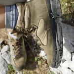 Wanderschuhe – nach der ersten Reperatur