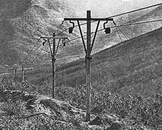 Materialseilbahn der österreichisch-ungarischen Armee in Mazedonien während des Ersten Weltkriegs