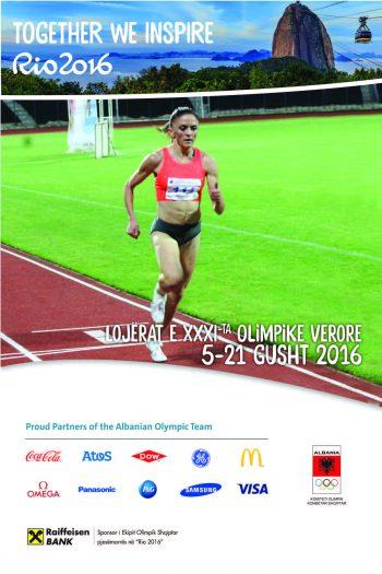 Poster des Nationalen Olympischen Komitees von Albanien