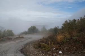 Strasse durchs Gebirge nach Dardha