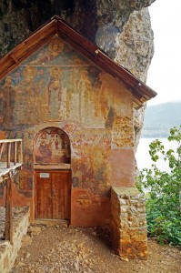 Kirche auf der Insel Maligrad, Prespasee