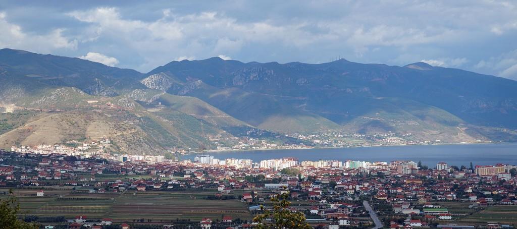 Pogradec und Umgebung, von Süden gesehen