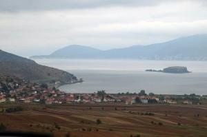 Prespasee mit Pustec/Liqenas und Insel Maligrad