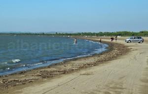Strand in der Nebensaison