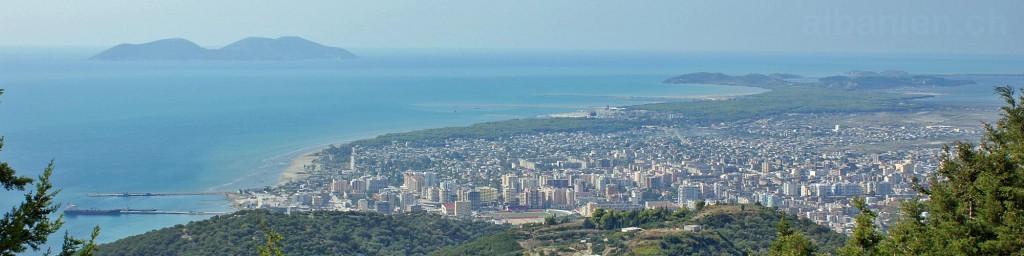 Vlora und Bucht von Kanina