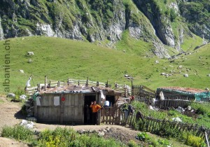 Alphütte bei Lepusha