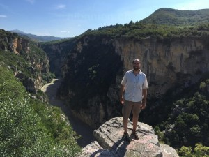 Autor beim Osum-Canyon