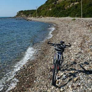 Bike am Strand