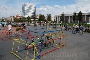 Skanderbeg-Platz am autofreien Tag »Tirana pa makina«