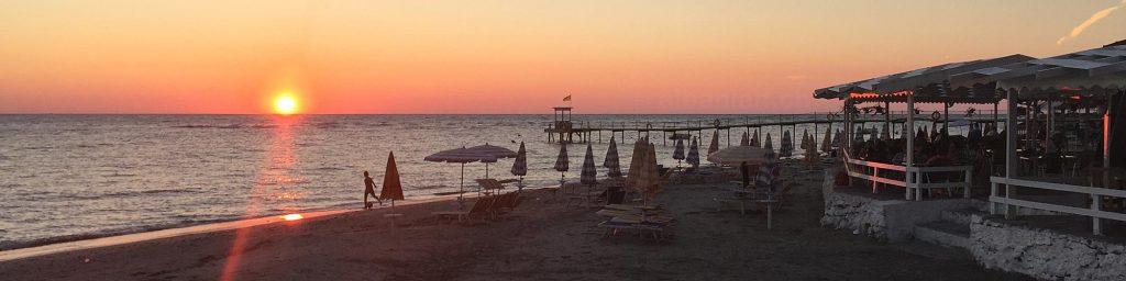 Sonnenuntergang in Durrës