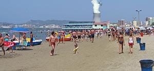 So könnte es bald in Durrës am Strand aussehen (Bildmontage: albanien.ch)