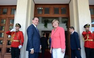 Angela Merkel zu Gast beim albanischen Präsidenten Bujar Nishani
