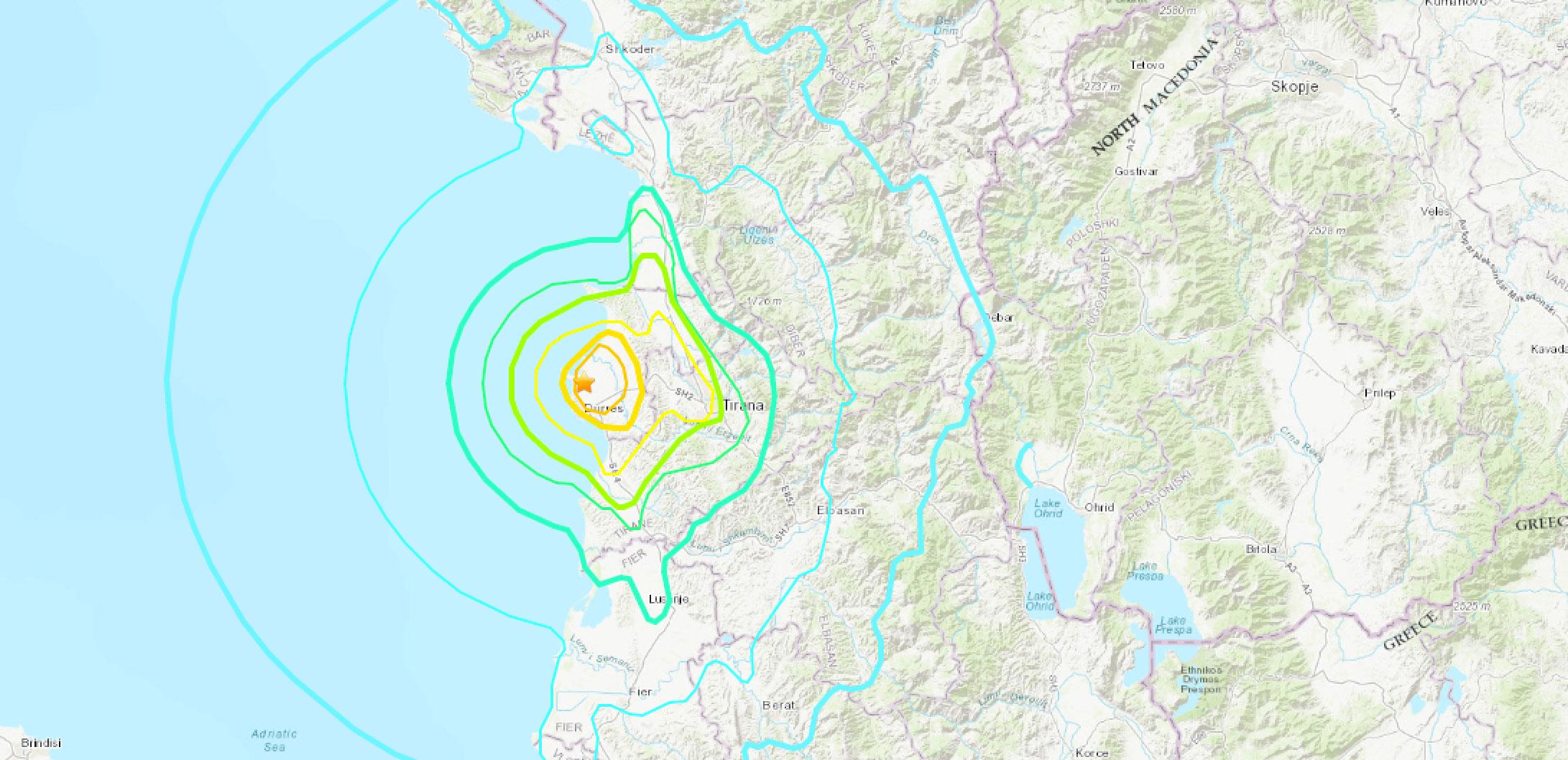 Karte des Erdbebens vom 21. September 2019