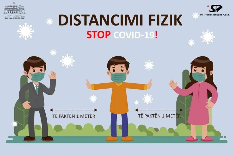 Social Distancing in Albanien: 1 Meter Abstand