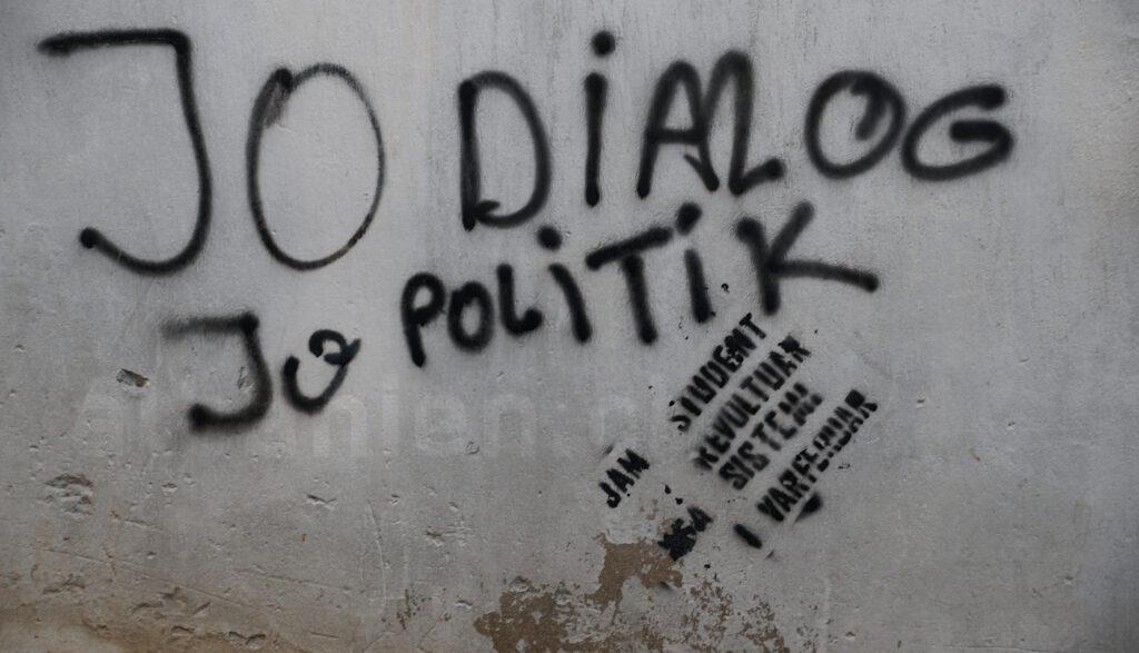 Proteste gegen Politik in Albanien