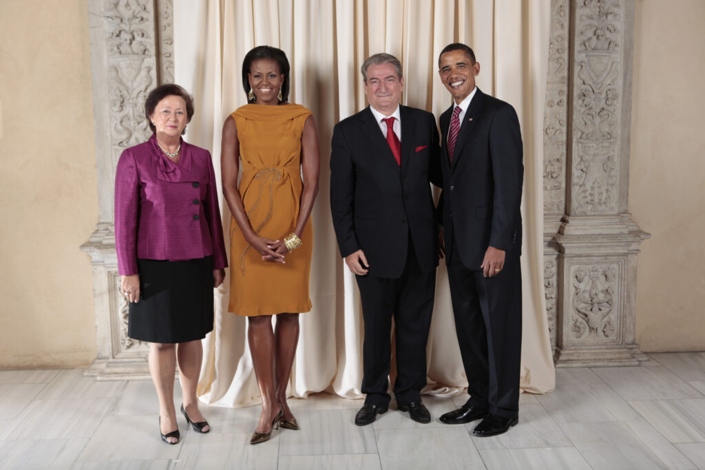 Sali Berisha und Liri Berisha bei Barak Obama und Michelle Obama