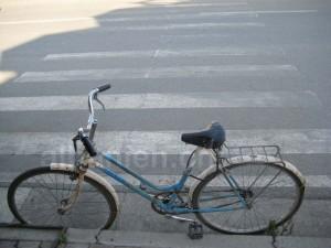 Fahrrad in Shkodra – mit Schloss, aber unabgeschlossen