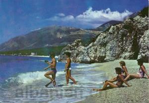 """Postkarte 1989 »Në Dhërmi"""""""