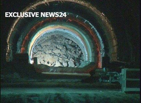 Kalimash-Tunnel: Eingestürzter Bereich im November 2009 (Bild: balkanweb.com)