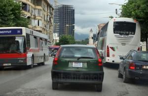 Gefälschtes Schweizer Autokennzeichen in Tirana
