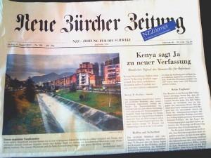 Neue Zürcher Zeitung vom 6. August 2010