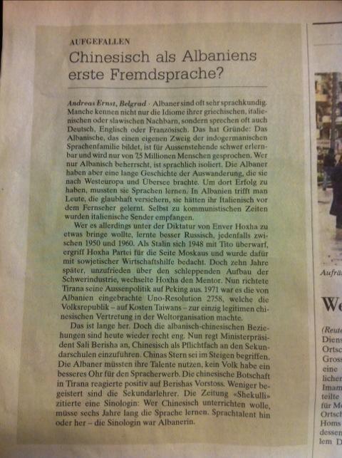 Neue Zürcher Zeitung, 7. März 2012
