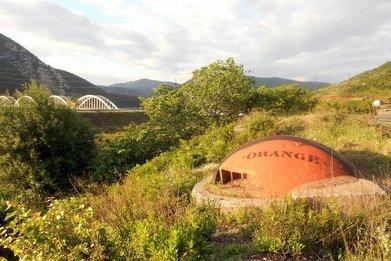 Besprayte Bunker