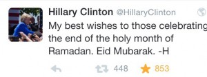 Screenshot Twitter Tweet von Hillary Clinton