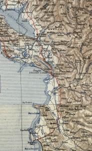 Österreichische Karte mit Seilbahn und Feldbahnen