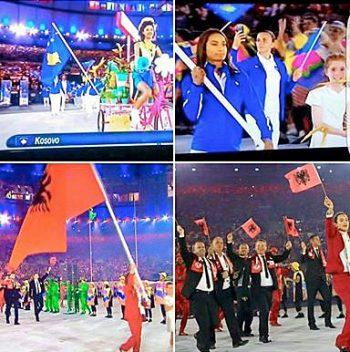 Szenen aus der Eröffnungszeremonie
