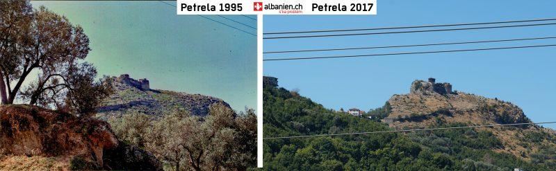 Burg Petrela 1995 und 2017