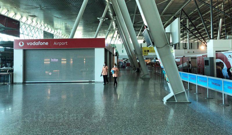 Flughafen Tirana während der COVID-19-Pandemie