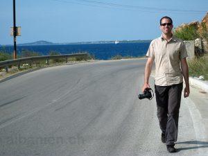 Autor auf Recherche – 2008 in Vlora